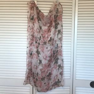 Accessories - Light and sheer floral scarf